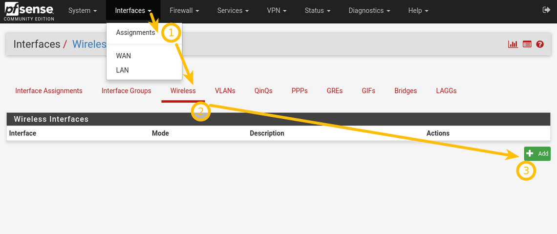 pfSense 2 4 step by step WiFi configuration instructions (7 steps
