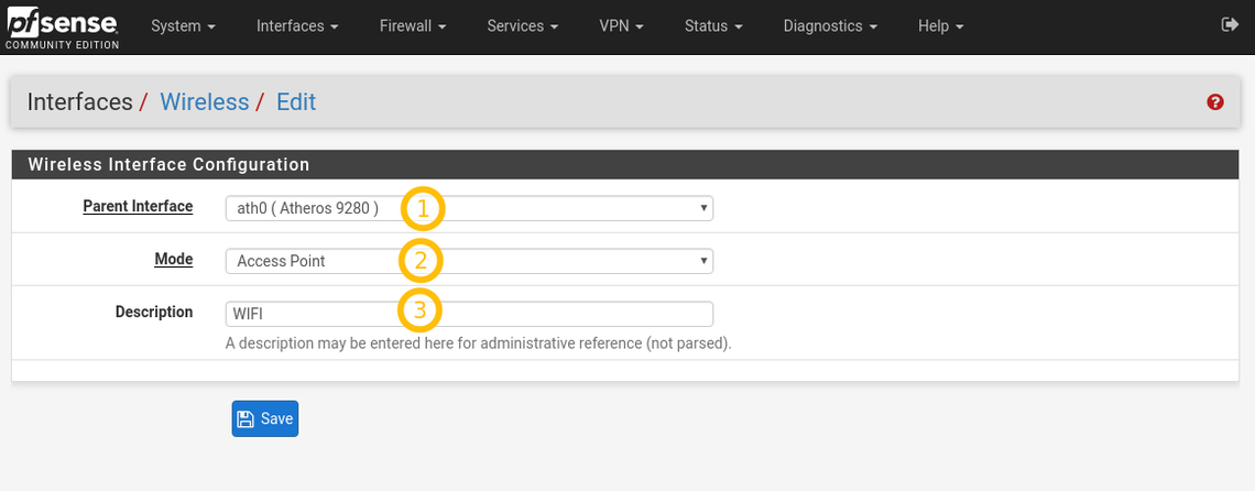 pfSense 2 4 step by step WiFi configuration instructions (7