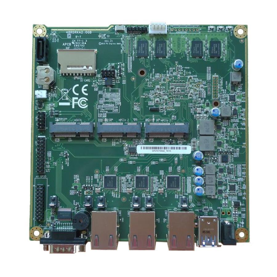 APU3B2 Router/Firewall. 3x Gigabit NIC, Quad Core CPU, 16GB SSD, 2GB RAM